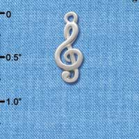 C2514 - Clef Note - Silver - Silver Charm
