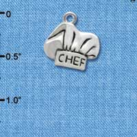 C2599 - Chef Hat - Silver Charm