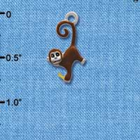 C2619* - Hanging Monkey (Left or Right) - Silver Charm
