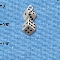 C2672 - Pair of Dice - Silver Charm