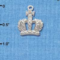 C2692 - Crown with AB Crystal - Silver Charm