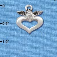 C2706 - Angel over Heart - Silver Charm