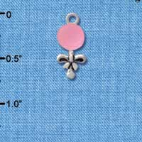 C2822+ - Pink Baby Rattle - Silver Charm