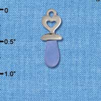 C2826+ - 3-D Blue Baby Pacifier - Silver Charm