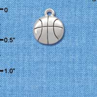 C2891+ - Silver Basketball - 2 Sided - Silver Charm