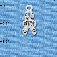C3179 - Small Silver Ribbon with Paw Prints