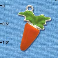 C3370 - Enameled Carrot - Silver Charm