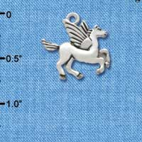 C3416 - Silver Medium Pegasus - Silver Charm (Left or Right)