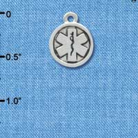 C3564 tlf - Silver Round EMT Sign - 2-D - Silver Charm