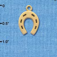C3635 tlf - Gold Horseshoe - Gold Charm