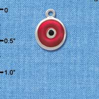 C3668 tlf - Red Evil Eye Good Luck - Silver Charm