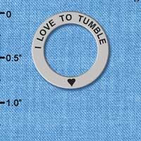 C3983 tlf - I love to Tumble - Affirmation Message Ring