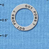 C3989 tlf - Got Poms? - Affirmation Message Ring
