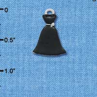 C4402 tlf - Black Dress - Silver Plated Charm