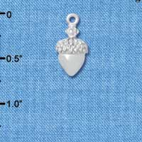 C4826+ tlf - Small Silver Acorn with Swarovski Crystals - Silver Plated Charm