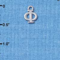 C5016 tlf - Small Greek Letter - PHI - Silver Plated Charm