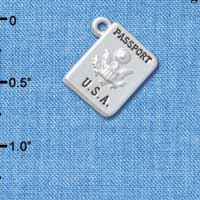 C5272+ tlf - U.S. Passport - Silver Plated Charm