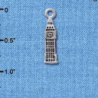 C5274+ tlf - London's Big Ben Clock Tower - Silver Plated Charm