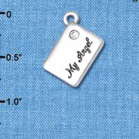 C5449+ tlf - My Angel Envelope - Silver Plated Charm
