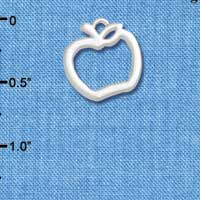 C5456+ tlf - Apple Outline - Silver Plated Charm