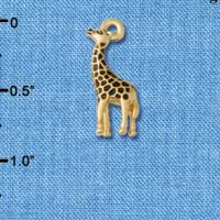 C5531+ tlf - Brown Giraffe - Gold Plated Charm
