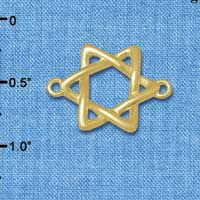 C5888+ tlf - Woven Star of David - Gold Plated Connector