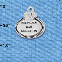 C5996+ tlf - Keep Calm and Cruise On - Silver Plated Charm