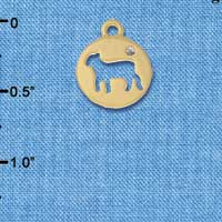C6067+ tlf - Lamb Cutout Disc - Gold Plated Charm