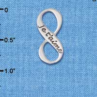 C6082+ tlf - Je t'aime Infinity Sign - Silver Plated Charm