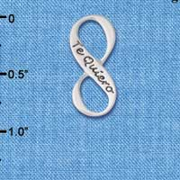 C6083+ tlf - Te Quiero Infinity Sign - Silver Plated Charm
