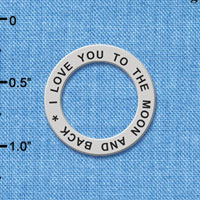 C6116+ tlf - I Love You To The Moon And Back - Affirmation Message Ring