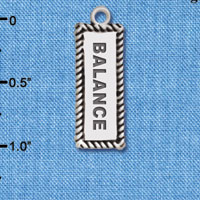 C6119+ tlf - Balance - Silver Plated Charm