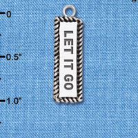 C6122+ tlf - Let It Go - Silver Plated Charm