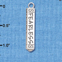 C6127+ tlf - Fearless Bar - Silver Plated Charm