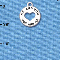 C6142+ tlf - You and Me Disc - Silver Plated Charm