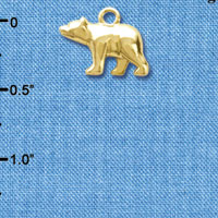 C6189+ tlf - 3-D Bear - Goldtone Plated Charm