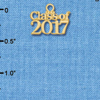 C6257 tlf - Class of 2017 - Goldtone Plated Charm