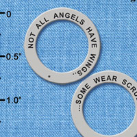 C6329+ tlf - Not All Angels Have Wings, Some Wear Scrubs - Affirmation Ring