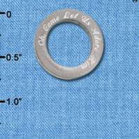 C6506-I tlf - Oh, Come Let Us Adore Him - Stainless Steel Affirmation Ring