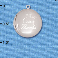 C6573-A tlf - In all Things Give Thanks - Silver Plated Locket