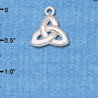 C6630 tlf - Celtic Trinity Knot - Silver Plated Charm