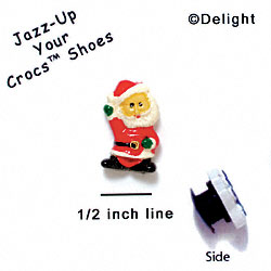 CROC - 0488 - Mr. Claus - Mini - Clog Shoe Decoration Charm