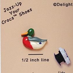 e103dbd313af CROC-9557 - Mallard Duck - Mini - Clog Shoe Decoration Charm