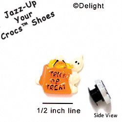 CROC - 9775* - Ghost Bag Trick Treat - Mini - Clog Shoe Decoration Charm