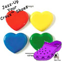 CROC - 0214 - Heart - 4 Assorted Colors - Medium - Clog Shoe Decoration Charm