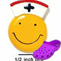 CROC-0217 - Smiley Face-Nurse/Medium - Clog Shoe Decoration Charm