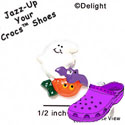 CROC - 0841 - Ghost - Pumpkin - Bat - Mini - Clog Shoe Decoration Charm