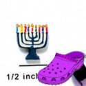CROC - 2288 - Menorah Colors - Mini - Clog Shoe Decoration Charm