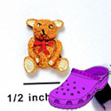 CROC - 2653 - Bear Sitting Tie Red - Mini - Clog Shoe Decoration Charm