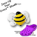 CROC - 2792 - Bee Front Yellow - Clog Shoe Decoration Charm